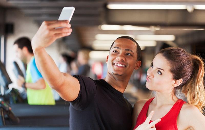 selfies na academia