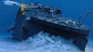 fotos raras Titanic no fundo do mar