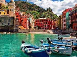 Cidades coloridas Cinque Terre Italia